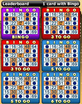 playing bingo cafe 75 ball bingo game