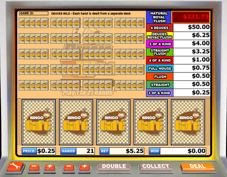 bingo cafe deuces wild video poker online casino game