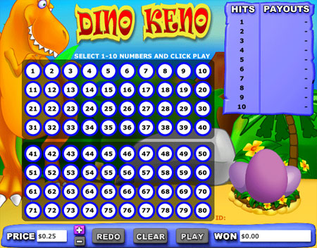bingo cafe dino keno online casino game