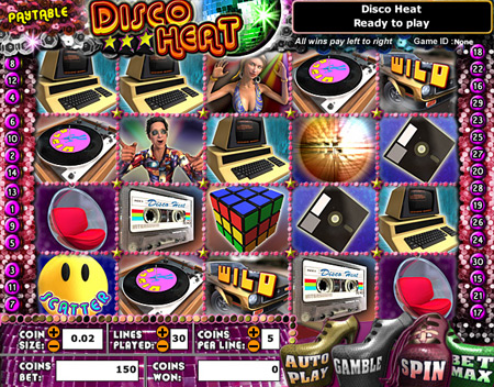 bingo cafe disco heat 5 reel online slots game