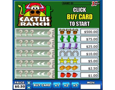 bingo cafe cactus ranch online instant win game