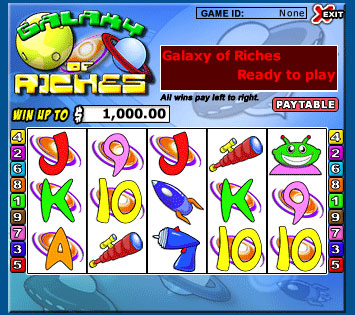 bingo cafe galaxy of riches 5 reel online slots game