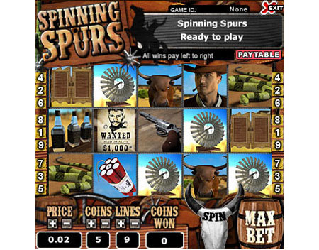 bingo cafe spinning spurs 5 reel online slots game