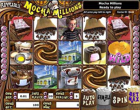 bingo cafe mocha millions 5 reel online slots game
