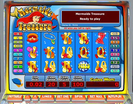 bingo cafe mermaids treasure 5 reel online slots game