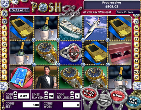 bingo cafe posh life 5 reel online slots game